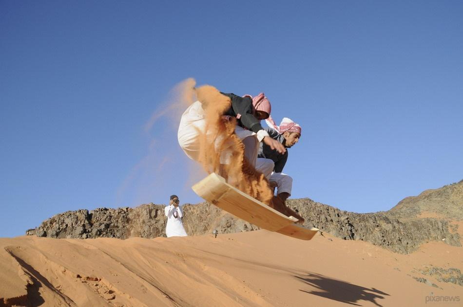 Песчаный серфинг в Саудовской Аравии