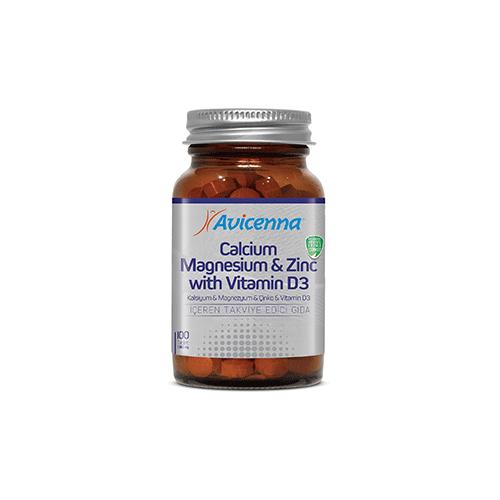 Кальций, магний, цинк с витамином D3 Avicenna