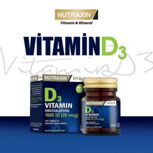 Vitamin D3, Nutraxin, 120 таблеток